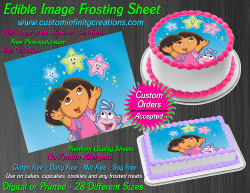 Dora the Explorer Edible Image Frosting Sheet #16 Cake Cupcake Cookie Topper