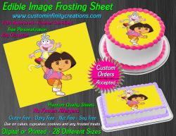Dora the Explorer Edible Image Frosting Sheet #19 Cake Cupcake Cookie Topper