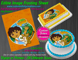 Diego Dora the Explorer Edible Image Frosting Sheet #21 Cake Cupcake Topper