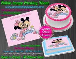 Disney Baby Edible Image Icing Frosting Sheet #1 Cake Cupcake Cookie Topper