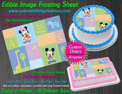 Disney Baby Edible Image Icing Frosting Sheet #3 Cake Cupcake Cookie Topper