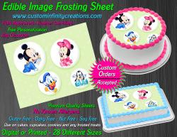 Disney Baby Edible Image Icing Frosting Sheet #7 Cake Cupcake Cookie Topper