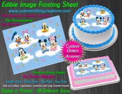Disney Baby Edible Image Icing Frosting Sheet #23 Cake Cupcake Cookie Topper