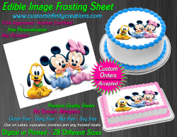 Disney Baby Edible Image Icing Frosting Sheet #34 Cake Cupcake Cookie Topper