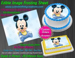 Disney Baby Mickey Edible Image Frosting Sheet #35 Cake Cupcake Cookie Topper