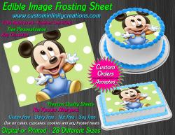 Disney Baby Mickey Edible Image Frosting Sheet #36 Cake Cupcake Cookie Topper
