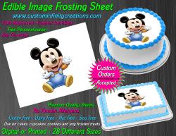 Disney Baby Mickey Edible Image Frosting Sheet #37 Cake Cupcake Cookie Topper