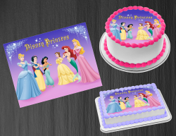 Disney Princess Edible Image Icing Frosting Sheet #5 Cake Cupcake Cookie Topper