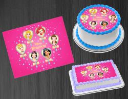 Disney Princess Edible Image Icing Frosting Sheet #17 Cake Cupcake Cookie Topper