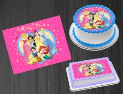 Disney Princess Edible Image Icing Frosting Sheet #20 Cake Cupcake Cookie Topper