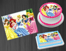 Disney Princess Edible Image Icing Frosting Sheet #38 Cake Cupcake Cookie Topper