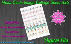 Baby Shark Digital 14mm Circle Images Collage Sheet #11 (instant download)