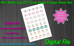 Baby Shark Christmas Digital 0.5 Circle Images Sheet #11 (instant download)