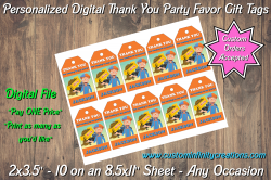 Blippi Digital Thank You Party Favor Gift Tags #1