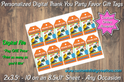 Blippi Digital Thank You Party Favor Gift Tags #2