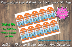 Blippi Digital Thank You Party Favor Gift Tags #3