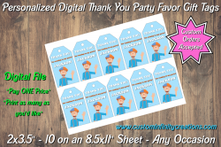 Blippi Digital Thank You Party Favor Gift Tags #6
