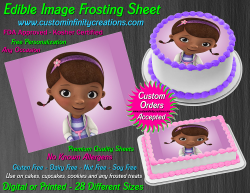 Doc McStuffins Edible Image Icing Frosting Sheet #3 Cake Cupcake Cookie Topper