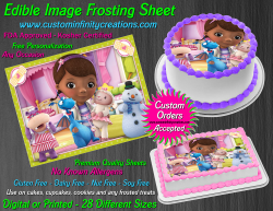 Doc McStuffins Edible Image Icing Frosting Sheet #5 Cake Cupcake Cookie Topper