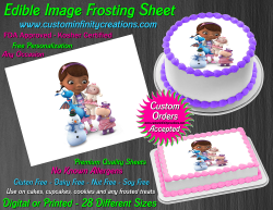 Doc McStuffins Edible Image Icing Frosting Sheet #12 Cake Cupcake Cookie Topper