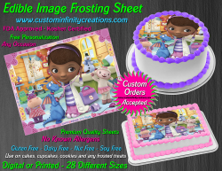 Doc McStuffins Edible Image Icing Frosting Sheet #14 Cake Cupcake Cookie Topper