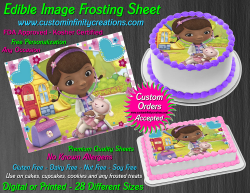 Doc McStuffins Edible Image Icing Frosting Sheet #15 Cake Cupcake Cookie Topper