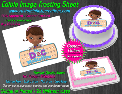 Doc McStuffins Edible Image Icing Frosting Sheet #17 Cake Cupcake Cookie Topper