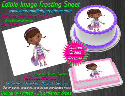 Doc McStuffins Edible Image Icing Frosting Sheet #18 Cake Cupcake Cookie Topper