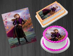 Frozen 2 Anna Edible Image Icing Frosting Sheet #5 Cake Cupcake Cookie Topper