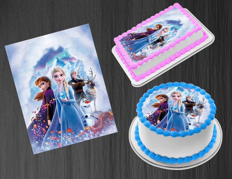Frozen Personalized Edible Print Cake Toppers Frosting Quarter Sheet