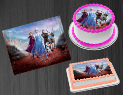 Frozen 2 Edible Image Icing Frosting Sheet #27 Cake Cupcake Cookie Topper