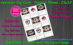 Osseo Maple Grove Digital or Printed Valentines Day Cards 2.5x3.5 Sheet #1