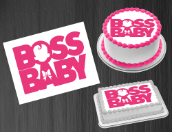 Boss Baby Girl Logo Edible Image Icing Frosting Sheet #1 Cake Cupcake Topper