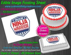 American Ninja Warrior Edible Image Icing Frosting Sheet #1 Cake Cupcake Topper