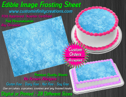 Frozen Edible Image Icing Frosting Sheet #97 Cake Cupcake Cookie Topper
