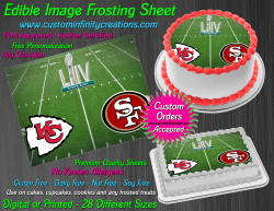 Super Bowl LIV 2020 Football Edible Image Frosting Sheet #3 Cake Cupcake Topper