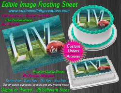 Super Bowl LIV 2020 Football Edible Image Frosting Sheet #4 Cake Cupcake Topper