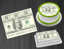 100 Dollar Bill Money Edible Image Frosting Sheet #5 Cake Cupcake Cookie Topper