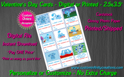 Blues Clues Digital or Printed Valentines Day Cards 2.5x3.5 Sheet #1