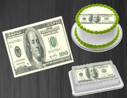 100 Dollar Bill Money Edible Image Frosting Sheet #6 Cake Cupcake Cookie Topper