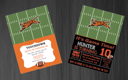 Cincinnati Bengals Digital Party Invitation #19 (Regular or Chalkboard)