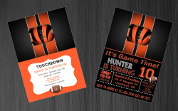 Cincinnati Bengals Digital Party Invitation #21 (Regular or Chalkboard)