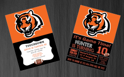 Cincinnati Bengals Digital Party Invitation #27 (Regular or Chalkboard)