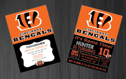 Cincinnati Bengals Digital Party Invitation #29 (Regular or Chalkboard)