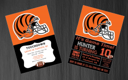 Cincinnati Bengals Digital Party Invitation #34 (Regular or Chalkboard)