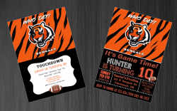 Cincinnati Bengals Digital Party Invitation #42 (Regular or Chalkboard)