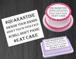 Quarantine 2020 Edible Image Icing Frosting Sheet #1 Cake Cupcake Cookie Topper