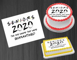 Seniors 2020 Quarantined Edible Image Frosting Sheet #7 Cake Cupcake Topper