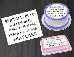 Birthday Quarantine 2020 Edible Image Frosting Sheet #2 Cake Cupcake Topper