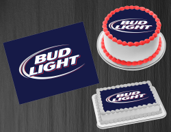 Bud Light Beer Edible Image Icing Frosting Sheet #2 Cake Cupcake Cookie Topper